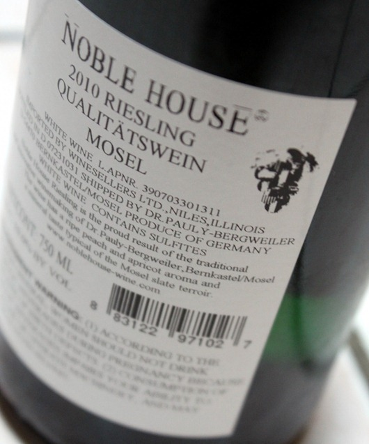 Dr Pauly Bergweiler Riesling, Mosel - Germany Back Label