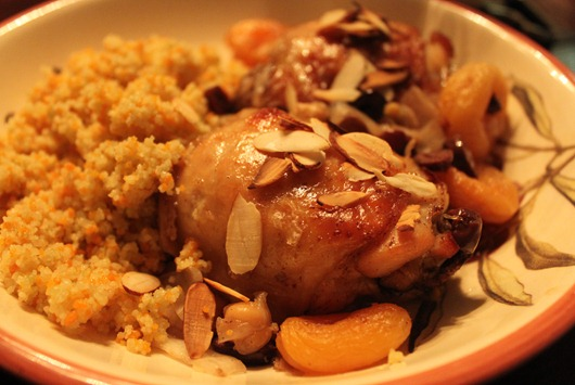 Slow Cooker Moroccan Chicken Paired with Palmaz Riesling.