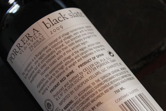 Black Slate Priorat, Spain, 2009.