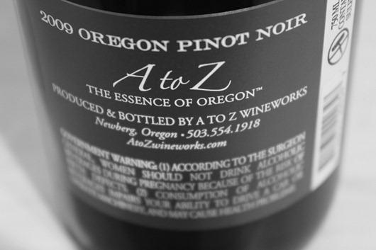 A to Z Pinot Noir, Oregon