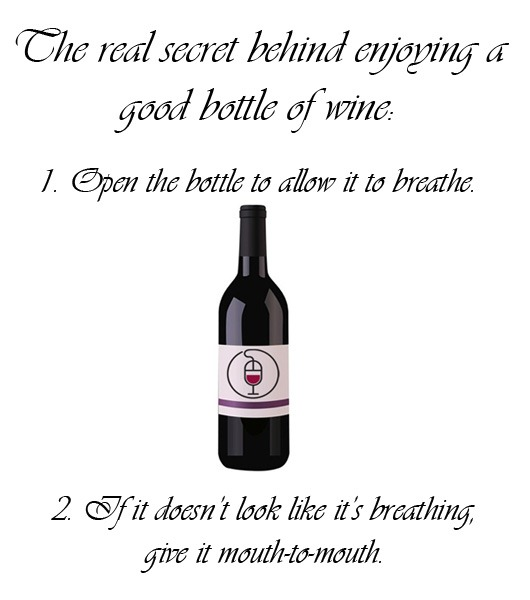 Image result for the secret of enjoying a good wine