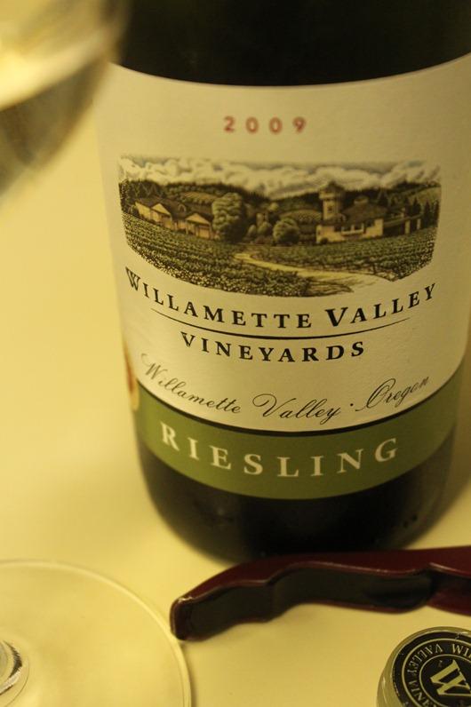 Willamette Valley Vineyards Riesling, Willamette Valley, Oregon, 2009