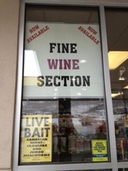 Fine Wine and Live Bait