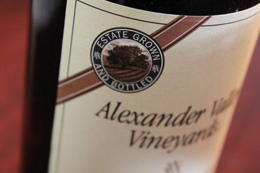 Alexander Valley Vineyards Cabernet Franc.