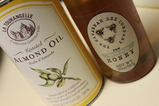 Almond Oil and Savannah Bee Company Honey - the secret ingredients for the perfect carrots!