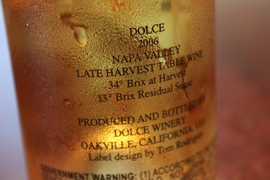 Dolce (Late Harvest Dessert Wine), Napa, 2006.