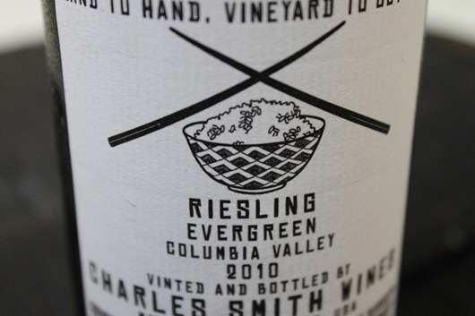 Kung Fu Girl Riesling by Charles Smith Wines, Columbia Valley, Washington State.