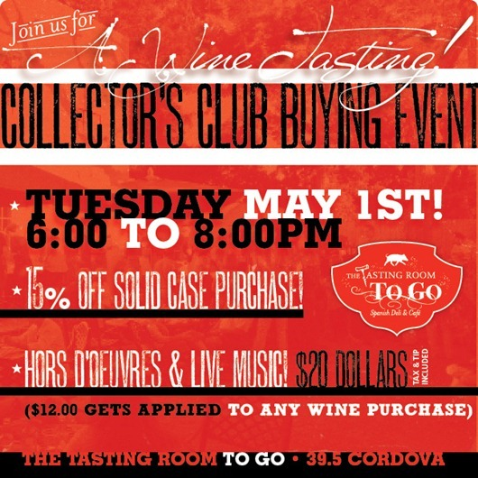 Collector's Club Buying / Tasting Event at The Tasting Room, St Augustine.