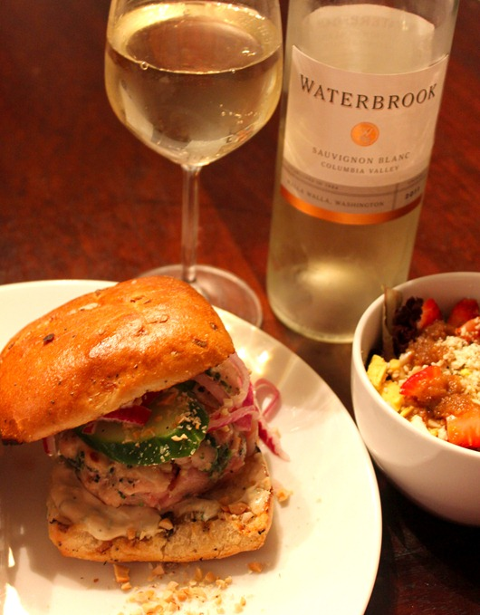 Thai Tuna Burgers with Ginger Lemon Mayo Paired with Waterbrook ...