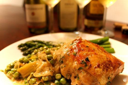 vinegar-braised-chicken-with-leeks-and-peas-PHOTO