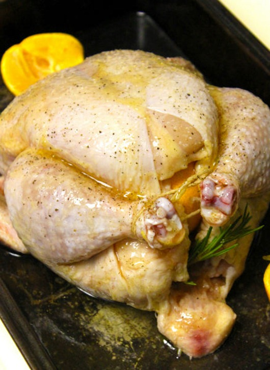 Roast Chicken-with-Tangerines