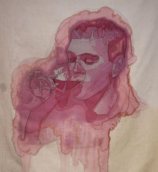 Winemaker-wine stain-art