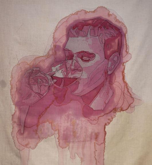 Winemaker-wine stain-art