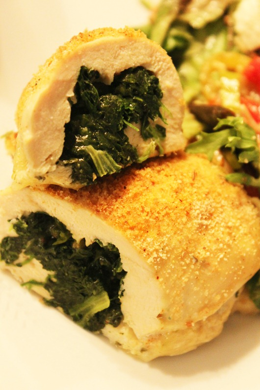 Recipe for Spinach and Pepperjack Stuffed Chicken