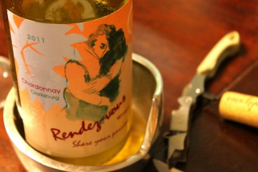 Rendez-vous Chardonnay, Clarksburg, California.