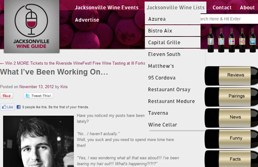 A Guide to the Best Wine Lists in Jacksonville.